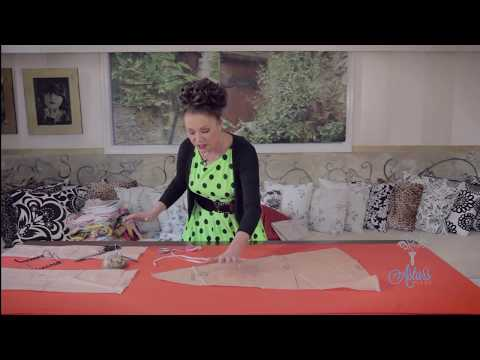How to Sew For Beginners Part 2: Placing and Pinning Pattern Pieces onto Fabric