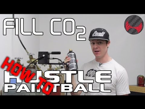 How to fill a paintball CO2 tank from a bulk tank (20lb, 50lb, etc) by HustlePaintball.com