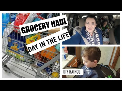 Grocery Haul & DIY Haircut Vlog
