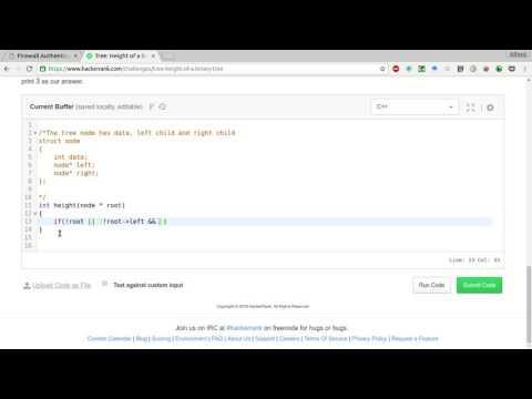HackerRank   Height of a Binary tree Solution