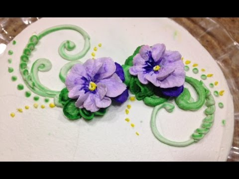 How to Make Buttercream Flowers Cake Decorating