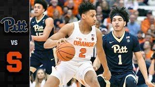 Pittsburgh vs. Syracuse Basketball Highlights (2017-18)