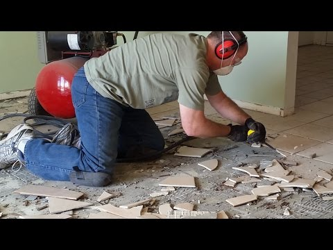 Best way to remove tile: Porcelain Ceramic Flooring