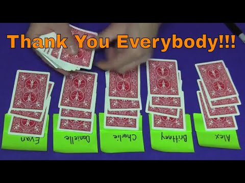 One Million Subscriber Card Trick