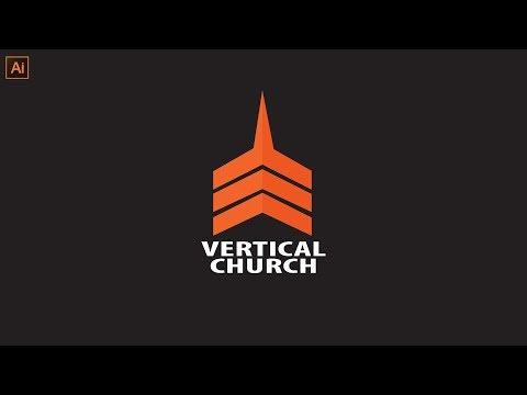 Professional Logo Design | Adobe Illustrator Tutorial | Vertical Church Logo