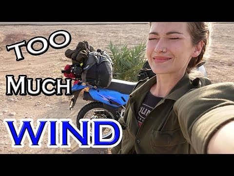 WIND wind and more wind !! Adventure riding in Oman Episode 17