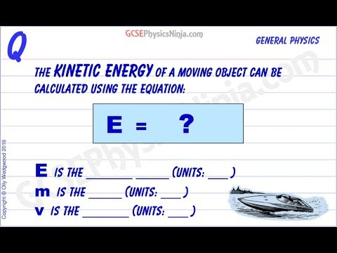 How To Calculate Kinetic Energy - Physics GCSE