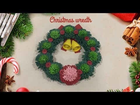 Paper Quilling Wreath / Christmas Decoration Idea For Kids / Super Easy Wreath    Priti Sharma