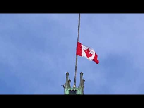 Canadian Flag Half Mast-Gordie Downie-Ottawa-2017