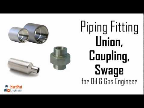 Pipe Fittings - Union, Coupling, Swage. Part 3/3