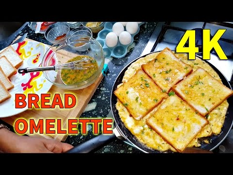 Bread Omelette Indian Style | Masala Bread Omelette Recipe | UHD 4K