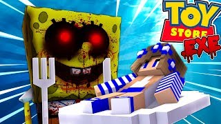 SPONGEBOB .EXE EATS THE LITTLE CARLY DOLL!! w/Little Carly and Little Kelly (Minecraft)