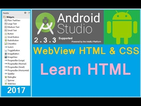 How to add HTML and CSS file into WebView in Android. Android studio 2.3.3 Next big thing