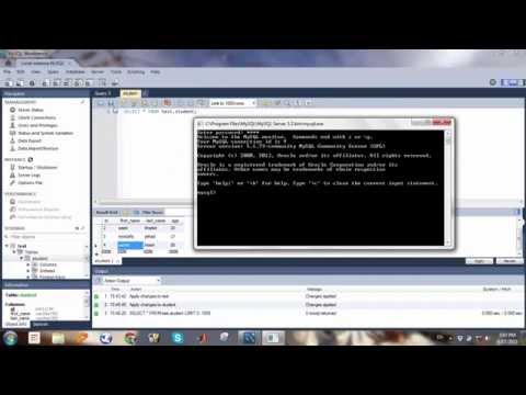 إنشاء وتعديل الجداول وقواعد البيانات في MySQL Workbench