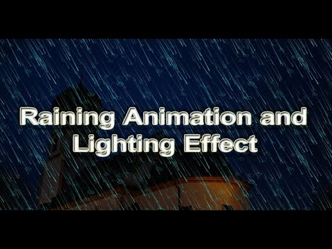 Pure CSS Raining Animation and Lighting  Effect with Html5 and CSS3