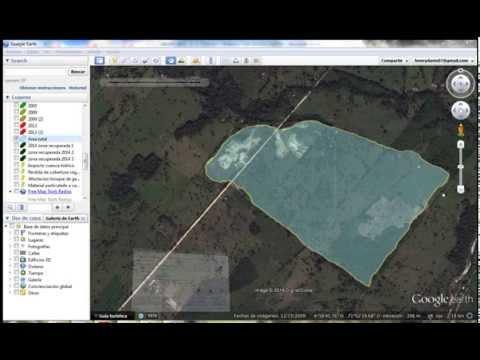 Trabajo en Google Earth.