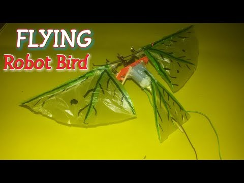 How To Make A Robot Flying Bird At Home / electronic  flying bird idea