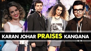 Karan Johar praises Kangana Ranaut's Acting on the sets of India's Next Superstar   SpotboyE