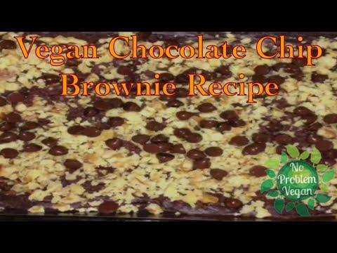 CHOCOLATE CHIP & WALNUT VEGAN BROWNIE - 3 INGREDIENTS