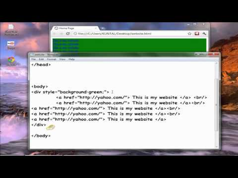 How to Create website with NOTEPAD FOR FREE || BASIC HTML PART 1 (HINDI)