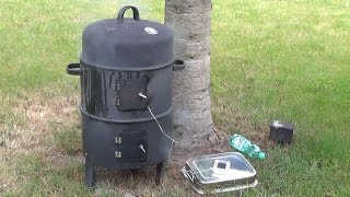 Smoker Tonne für 30 Euro - BBQ Grill Smoker Test - Pulled Pork aus der 3 in 1