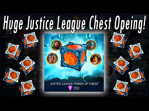 HUGE JUSTICE LEAGUE POWER UP CHEST OPENING!! Is It Worth Buying Power Up Chest?! Injustice 2 Mobile
