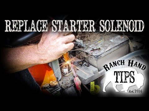 Husqvarna Riding Mower Replace Starter Solenoid - Ranch Hand Tips