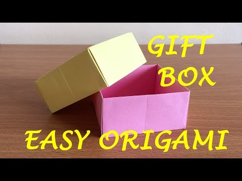 How to Make a Gift Box out of Paper - Origami