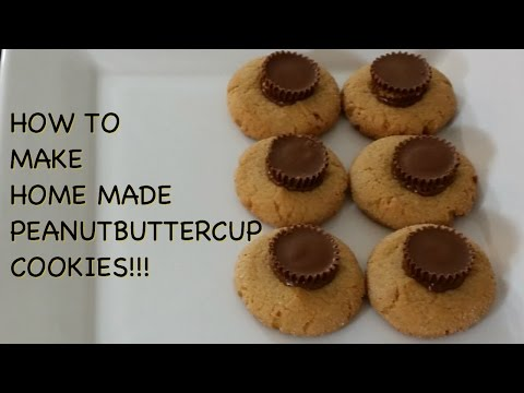 How to make home made peanut butter cup cookies!!!