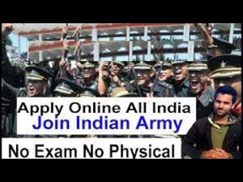 Indian Army Direct Entry  All India Vacancy, Apply Online Technical Entry  2018