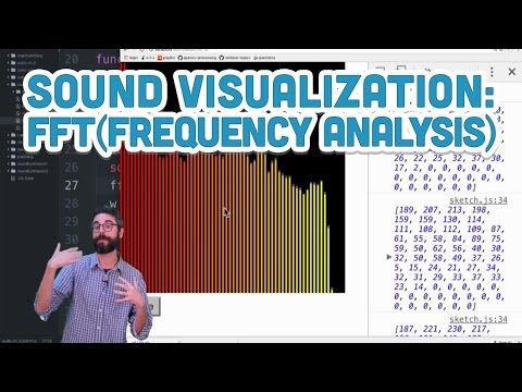 17.11: Sound Visualization: Frequency Analysis with FFT - p5.js Sound Tutorial
