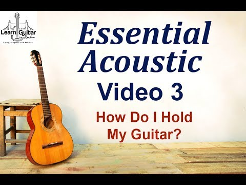 Beginners Acoustic - How Do I Hold a Guitar? - Drue James - Video 3