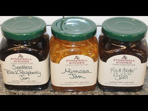 Stonewall Kitchen Jam: Seedless Black Raspberry, Mimosa and Fig & Ginger Review