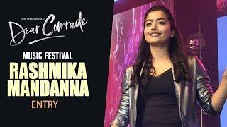 Rashmika Mandanna Entry | Dear Comrade Music Festival | Vijay Deverakonda