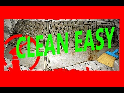 How to clean dirty keyboard