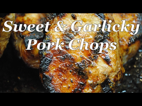 Sweet and Garlicky Port Chops by Steven Raichlen