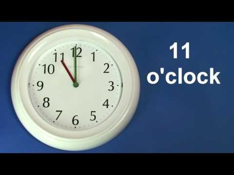 Learn To Tell The Time - Clock Time - English 7 o'clock to 12 o'clock