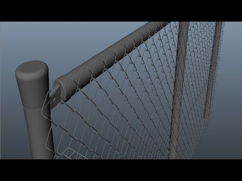 Maya 2014 tutorial : How to model a chain link fence