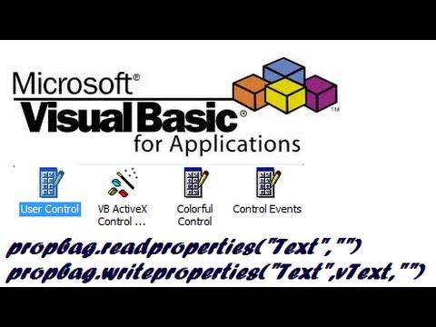 How to create custom properties in Visual Basic 6 Usercontrol.