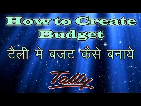 Day 21 - how to create budget in tally erp 9 | Budget Example Complete tutorial step by step