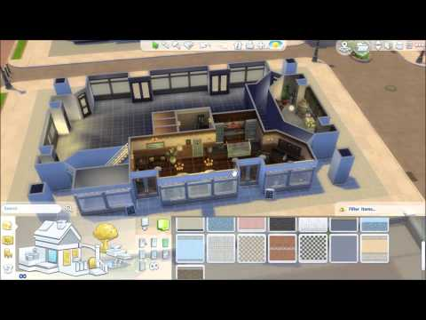 Building a Shopping Block SIMS 4 GET TO WORK