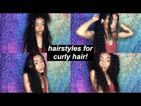 4 STYLES FOR CURLY HAIR 2018 | ALI PEARL HAIR