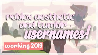Aesthetic Usernames For Roblox 2019