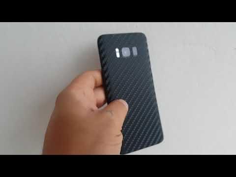 CUSTOM SAMSUNG GALAXY S8 SKINS (Black Carbon)