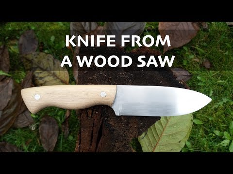 Making a Knife from an old wood saw // Knifemaking // My Cellar Workshop