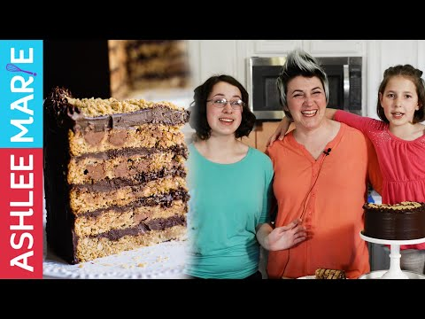 how to make a cookie cake - a mothers day treat