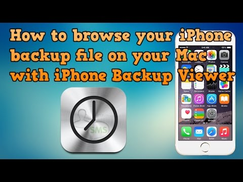 How to browse your iPhone backup with iPhone Backup Viewer