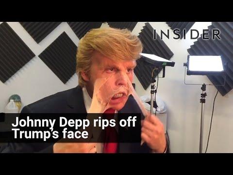 Johnny Depp rips off Donald Trump makeup