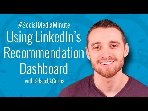 [HD] Using LinkedIn's NEW Recommendation Dashboard - #SocialMediaMinute