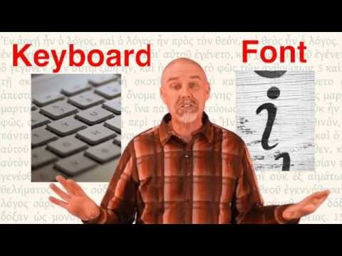 How to install Greek fonts and type in Greek